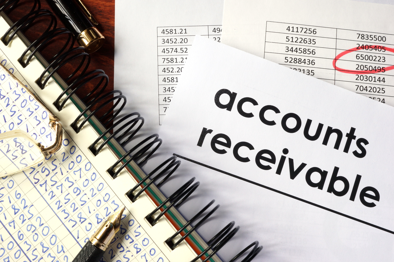 Accounts receivable forecasting in a cash forecasting process